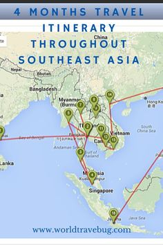 4 months 9 countries se asia is a very popular region for first time