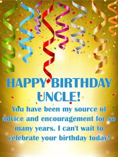 Happy Birthday Wishes Card For Uncle Celebrate Your