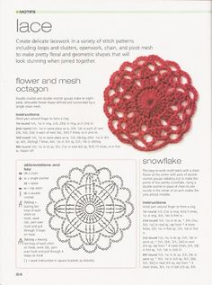 Crochet flowers with diagram  #24
