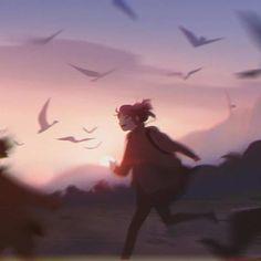 Charming Illustrations Capture Under-Appreciated Moments of Solitude - Anime art girl - Art Anime Fille, Anime Art Girl, Manga Girl, Anime Girls, Fantasy Anime, Fantasy Art, Aesthetic Art, Aesthetic Anime, Pretty Art