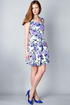 x Бело-фиолетовое платье с цветочным принтом 2 Льва