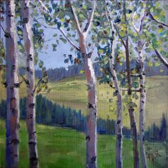 oil painting of aspen trees - Google Search