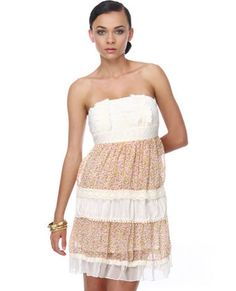 Flavor of the Day Strapless Floral Dress  $46.00 - Lulu's