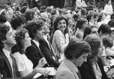 1980 In the crowd for Caroline and Michael's Harvard graduations. Kerry, JFK Jr, Ted and Jackie.