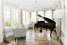 baby grand in the sunroom (love love love these hardwood floors)