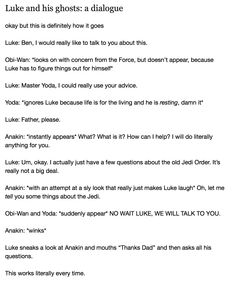Obi-wan & Yoda start catching on after a while, but they continue to appear anyways because the one time they didn't Anakin started telling tales about things certain Order members had gotten up to & Obi-wan was about ready to either die of embarrassment or kill Anakin.... it was a toss up. << lol