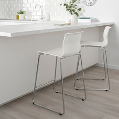 VOLFGANG Bar stool with backrest, chrome plated, Gunnared medium gray. A soft, padded seat with restful flexibility – that's how it feels when you sit down for a nice long meal in VOLFGANG bar stool or dining chair – both are just as comfortable. Eames Chairs, Bar Chairs, Dining Chairs, Office Chairs, Room Chairs, Ikea Chairs, High Chairs, Desk Chairs, Lounge Chairs