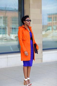 Orange and Cobalt    Just Patience Orange Fashion 7a72a4ca2