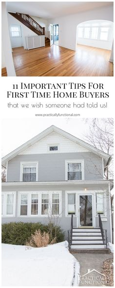11 important tips for first time home buyers to help you find the perfect home! #spon