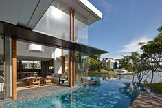 A house designed to provide a resort-like home for a multi-generational family
