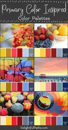 Primary Color Palettes from Images - Delightful Paths Color Schemes Colour Palettes, Colour Pallete, Color Combos, Mixing Primary Colors, Color Mixing, Color Palette From Image, Color Palette Challenge, Color Scale, Colour Board