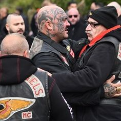 Hells Angels Members gather for the Funeral of Aygun Mucuk