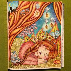 "216 Likes, 58 Comments - Šárka (@sakriska) on Instagram: ""My autumn's Vivi for color-along #coloringdirty30 with lovely friends  coloring book ""Vivi söker…"""