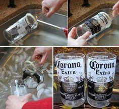 1000 images about como cortar botellas on pinterest - Como cortar botellas de vidrio ...