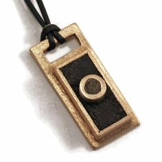 Bronze and concrete men's pendant necklace by KathrynDesignsArt, $60.00