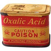 Oxalic Acid - A Purepac Product - Poison