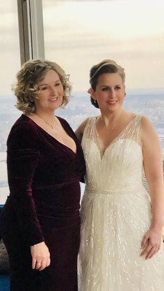 Lovely Traci and her mother at the top of Manhattan. Bridal Beauty, Manhattan, Brides, Wedding Dresses, Makeup, Artist, Top, Fashion, Bride Dresses