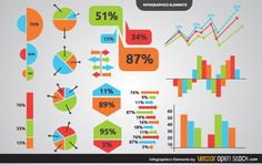 Infographic Charts & Graphs Elements - http://www.welovesolo.com/infographic-charts-graphs-elements/