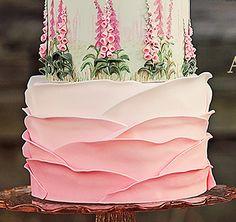 Торт розовые лепестки