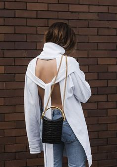 Super cool open back sweater