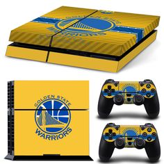 Golden State Warriors skin Game Skin Stickers For Playstation 4 Console 2 Pcs Vinyl decal Skin Stickers For Controller Playstation 4 Console, Xbox One Console, Playstation Games, Video Games Xbox, New Video Games, Xbox One Games, Nintendo Ds, Wii U, Xbox 360