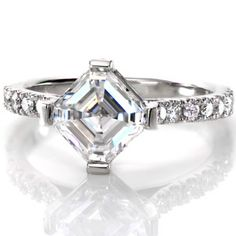 Design 2539 - Knox Jewelers - Minneapolis Minnesota - Micro Pavé Engagement Rings - Asscher, U-cut