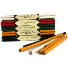 66 Vintage Stratosphere Colored Pencils New Old Stock Unsharpened Red... ($40) ❤ liked on Polyvore featuring home, home decor, red home decor, red home accessories, vintage home accessories, green home decor and yellow home accessories