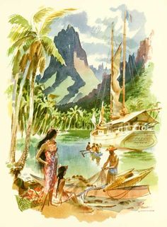 Cover of a Mason Lines Menu on a cruise in Hawaii (circa 1950's)r***Research for possible future project.