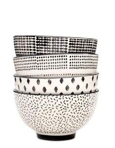 Monochrome Ceramic Bowl Set LEIFSHOP