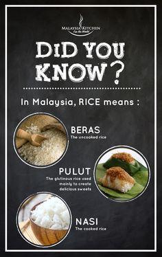 Fun fact about RICE  in Malaysia! #didyouknow #malaysiakitchen #foodfact
