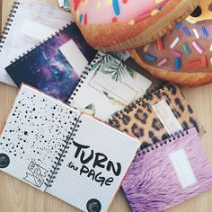 Donut pillow Galactic notebook Animal print notebook Fur notebook by La Creme  https://instagram.com/lacreme.brand