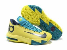 new style 6bc87 7d45b Discount Price at Nike Zoom KD 6 Yellow Teal Navy shoes. Our store sale cheap  kd 6 yellow teal navy shoes. Buy now!