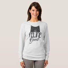 Cat Lady I'm feline good! T-Shirt - cat cats kitten kitty pet love pussy