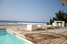 Pool or Pacific -- take your pick -- Casa Garífuna beach house vacation rental in Playa Costa Azul El Salvador.
