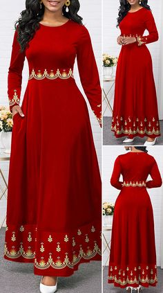 Long African Dresses, Latest African Fashion Dresses, Pretty Dresses, Beautiful Dresses, Shweshwe Dresses, Cute Dress Outfits, Maxi Dress With Sleeves, Traditional Dresses, Holiday Fashion