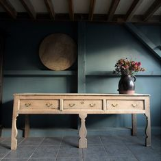 18th c large silhouette English dresser - Decorative Collective