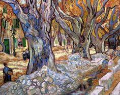 Les Alyscamps ou les paveurs de St Rémy de provence. Van Gogh