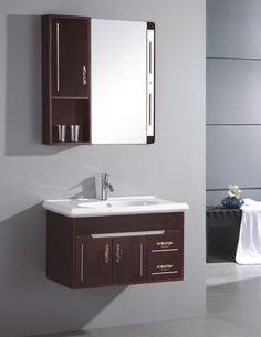 Bathroom, Ultra Modern Wall Mirror With Shelving Unit Idea Also Minimalist Bathroom Sink Cabinet Design: Inspiring Bathroom Sink Cabinets as the Versatile Appliance