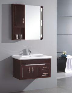 Bathroom, Ultra Modern Wall Mirror With Shelving Unit Idea Also Minimalist Bathroom Sink Cabinet Design: Inspiring Bathroom Sink Cabinets as the Versatile Appliance