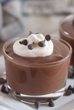 The Very Best Chocolate Pudding Made from scratch, this homemade chocolate pudding is velvety smooth and sweet as a custard pie. Homemade Chocolate Pudding, Butterscotch Pudding, Best Chocolate, Mousse, Just Desserts, Dessert Recipes, Dessert Ideas, Pudding Desserts, Pastry Recipes