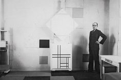 100 Famous Artists And Their Studios - Piet Mondriaan
