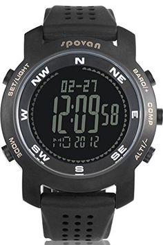 Men's Watches Glorious Spovan Smart Watch Men Women Multi-function Outdoor Sport Watch Ultra Thin Led Altimeter Barometer Watch Montre Homme Last Style