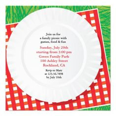 If you are looking for a Picnic or Outing invitation cards, then this cute Barbeque Hotdog Party Invitation Card is perfect for you, and it's totally customizable!