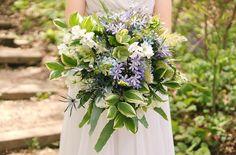 Unruly and unusual bouquets by Cincinnati wedding florist Floral Verde LLC. Blue Purple Wedding, Purple Wedding Flowers, Green Wedding, Bridal Bouquet Blue, Wedding Bouquets, Buy Flowers Online, Blue Peonies, Dusty Miller, Agapanthus