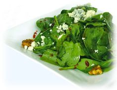 Zea's Spinach Salad with Pepper Jelly Vinaigrette