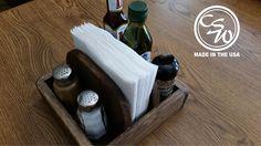 Rustic Napkin Holder/Salt and Pepper/Stake Seasoning