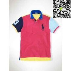b9746b50f75 Polo Ralph Lauren Custom Neon Multi Big Pony Rose Red
