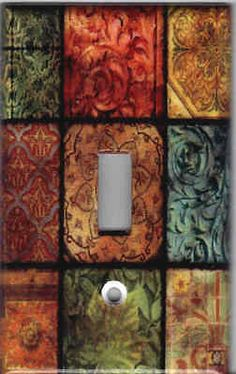 Tuscan Tile Mosaic Print Light Switch Plate Cover ~ could use scrapbook paper instead Switch Plate Covers, Light Switch Plates, Light Switch Covers, Tuscan Style Homes, Tuscan House, Rustic Italian, Italian Home, Tuscan Home Decorating, Decorating Ideas