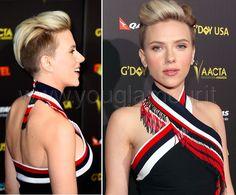 Scarlett Johansson rocking an undercut pixe
