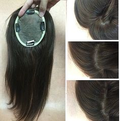 """5""""X6.7"""" Invisible SILK TOP human hair topper top piece for women,Length 8""""~20"""""""